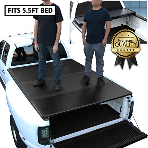DNA Motoring TTC-HARD-056 Truck Bed Top Hard Solid Tri-Fold Tonneau Cover