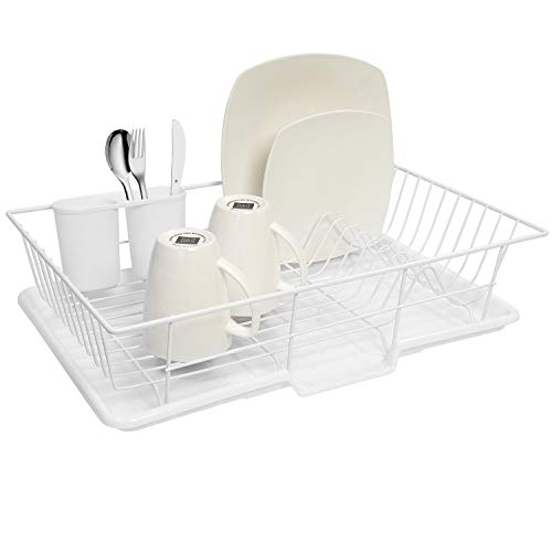Sweet Home Collection 3 Piece Dish Drainer Rack Set
