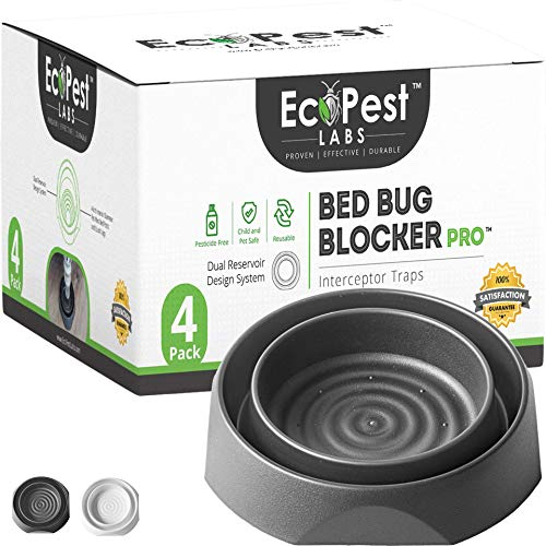 ECOPEST Bed Bug Interceptors - 4 Pack | Bed Bug Blocker (Pro) Interceptor Traps
