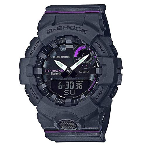 Casio G-Shock G-Squad Black & Purple Watch GMAB800-8A