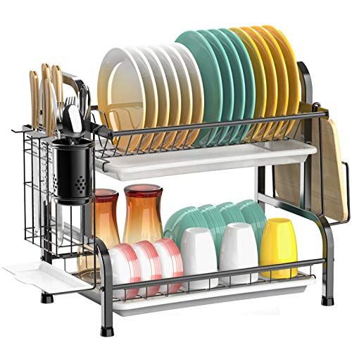 Cambond Store Dish Drying Rack 2 Tier