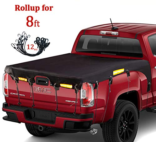 Coverify Truck Bed Cover Long Bed (8′ Box) for Ford F150/F250/F350/F450 Silverado/Sierra Ram Tundra